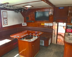 Finest Kind Charter Boat Interior